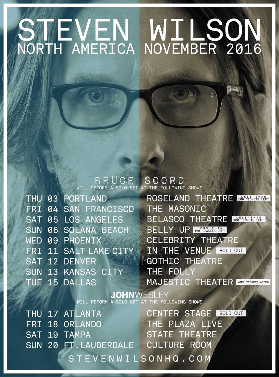 Steven Wilson USA Shows